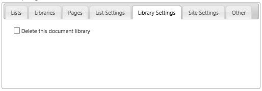 Library Settings tab